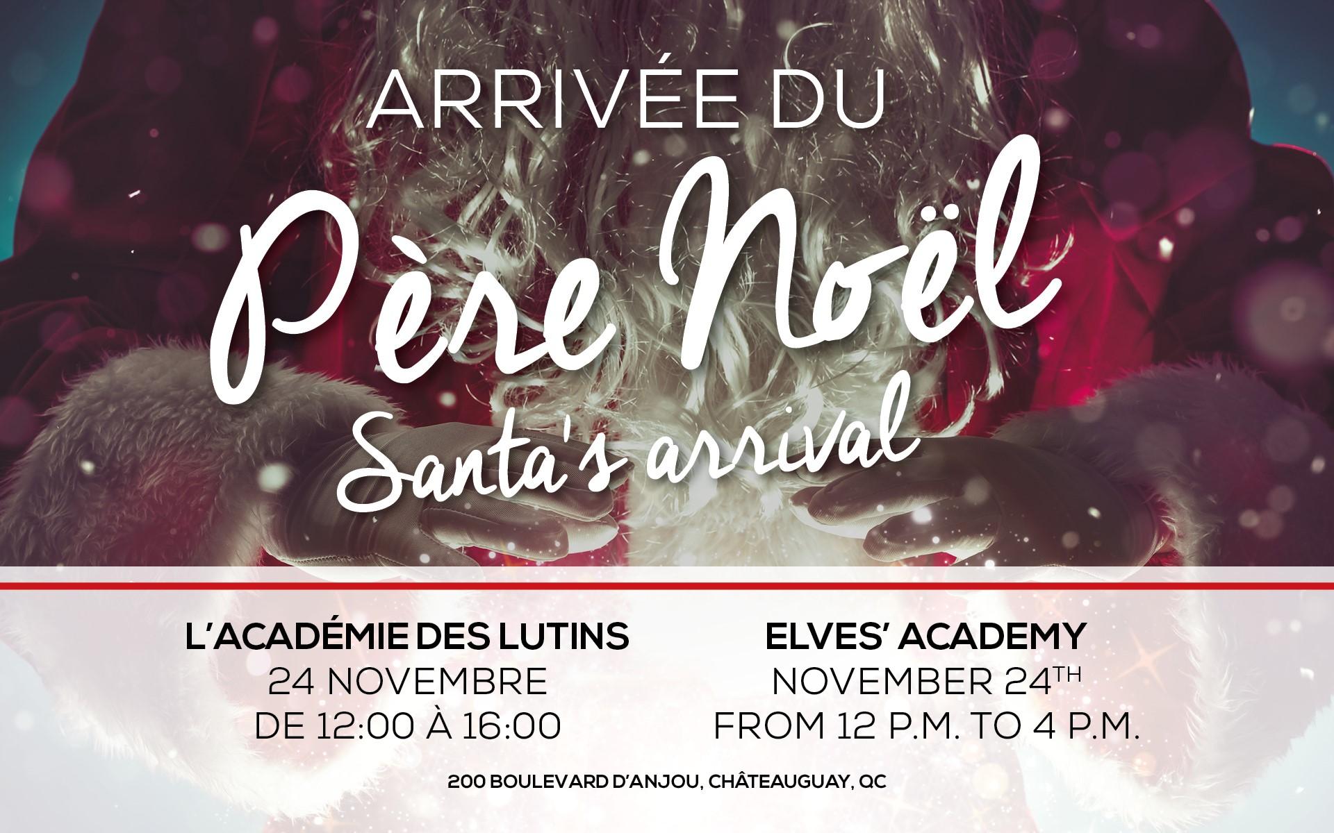 Arrivée du Père Noël (Site Web)